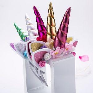 Accessories - 🦄 FUSHIA Unicorn Horn Flower Headband Caticorn